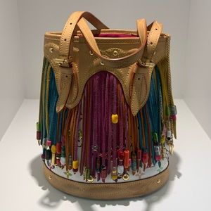 *RARE* Louis Vuitton Fringe Multicoloe Bucket Bac